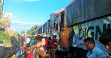 Choque de trenes en La Sabana