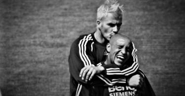 Roberto Carlos y David Beckham