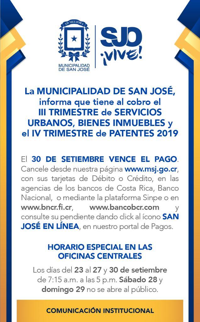 Municipalidad de San José - Trabajamos para usted